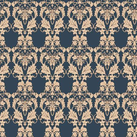 Floral Seamless vintage background. Vector background Ilustración de vector