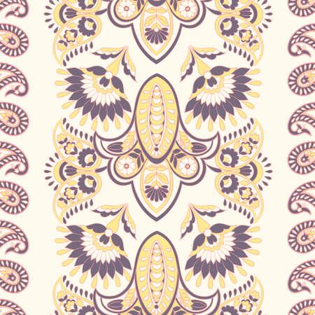 Seamless floral vintage pattern. Vector background for textile design Ilustración de vector