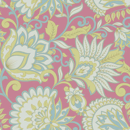 beautiful flowers seamless pattern. Floral vector illustration Illustration