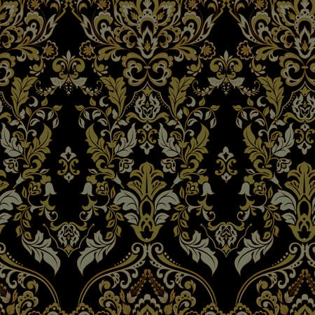 Vector papel tapiz floral. Adorno floral barroco clásico. Patrones vintage sin fisuras Ilustración de vector