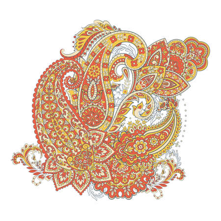 Isolated indian pattern with paisley Stock Illustratie