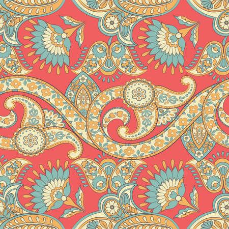 Ornate floral damask background. Vector vintage pattern Ilustração