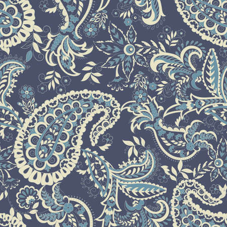 Paisley damask background. Vector vintage pattern