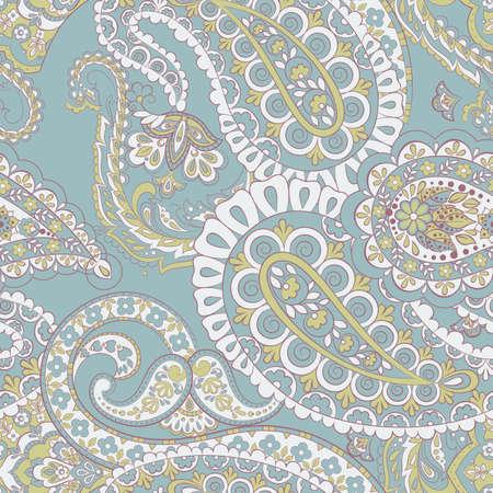 Paisley vintage floral seamless patten Illustration