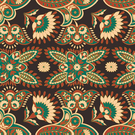 Florals seamless pattern. damask vector background