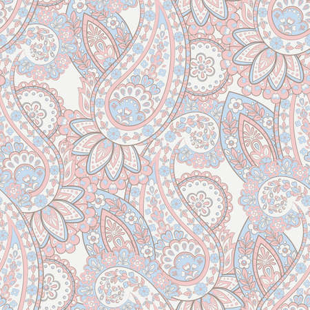 Seamless Paisley pattern. Floral vector illustration