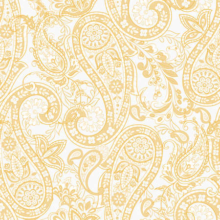 Paisley Floral ethnic Pattern. Seamless Ornament. Ornamental motifs of the Indian fabric patterns.