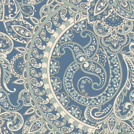Seamless ethnic vintage background. Vector background for textile design