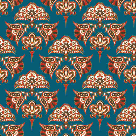 Seamless ethnic background. Vector floral  pattern