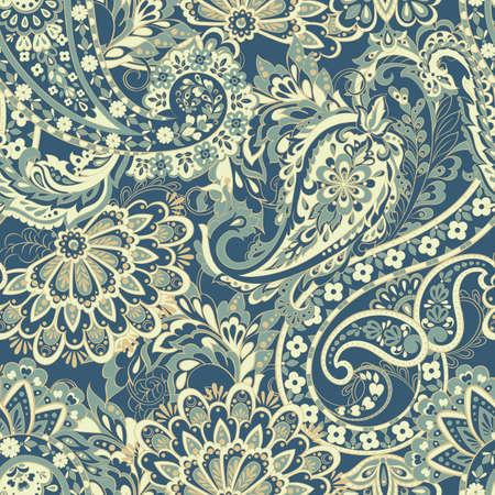 Damask style Seamless pattern. Floral vector wallpaper Illustration