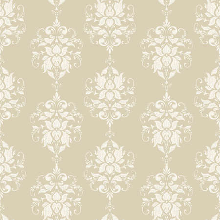 Carta da parati floreale vettoriale Ornamento floreale classico barocco. Seamless pattern vintage