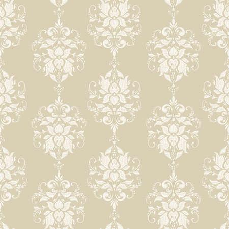 Vektor Blumentapete. Klassische barocke Blumenverzierung. Nahtloses Vintage-Muster