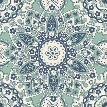 Seamless mandala pattern. Vintage decorative background  イラスト・ベクター素材
