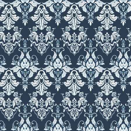 Vector floral wallpaper. Classic Baroque floral ornament. Seamless vintage pattern