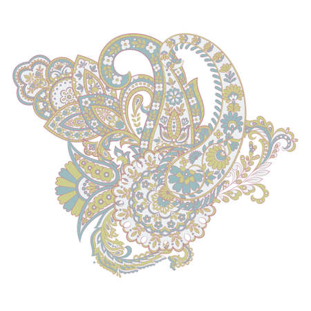 Isolated paisley ornament. Vector illustration Stock Vector - 124715610