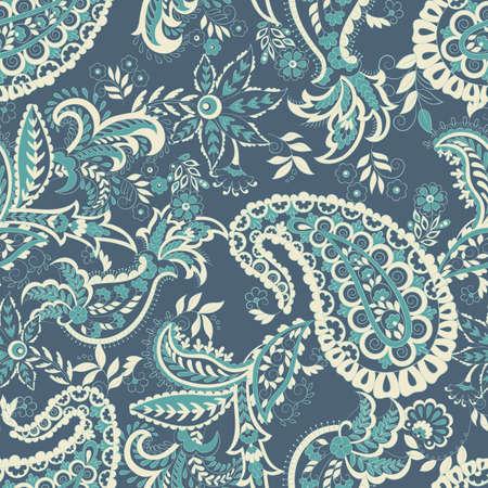 Paisley damask background. Vector vintage pattern Reklamní fotografie - 124715626