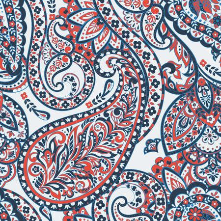 Paisley colorful ornament. Vector illustration  イラスト・ベクター素材