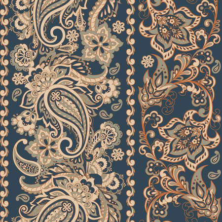 Ornate seamless  damask background. Vector vintage wallpaper
