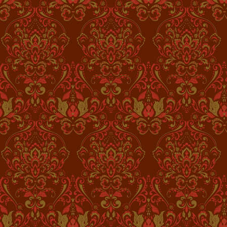 Vintage seamless  wallpaper. Floral vector pattern