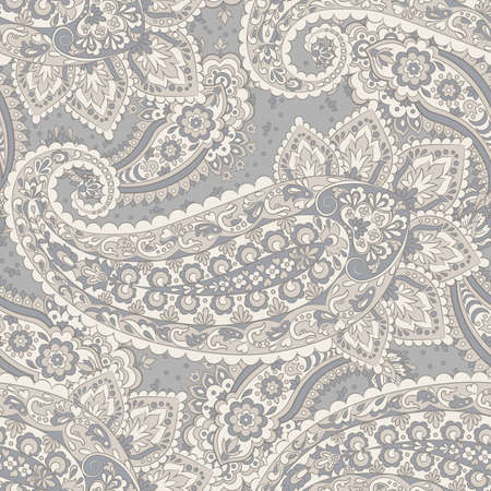 Paisley seamless pattern. Vintage background in Damask style Stock Vector - 124012482