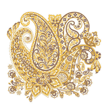 Paisley Floral oriental ethnic Pattern.  Arabic Ornament