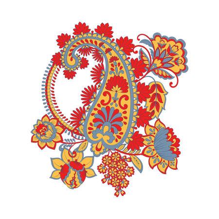 Paisley Floral oriental ethnic Pattern. Vector Arabic Ornament