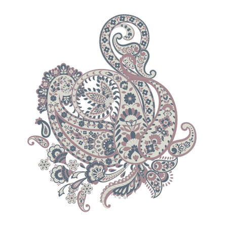 Ornate damask Paisley ornament. Vector vintage illustration Illustration
