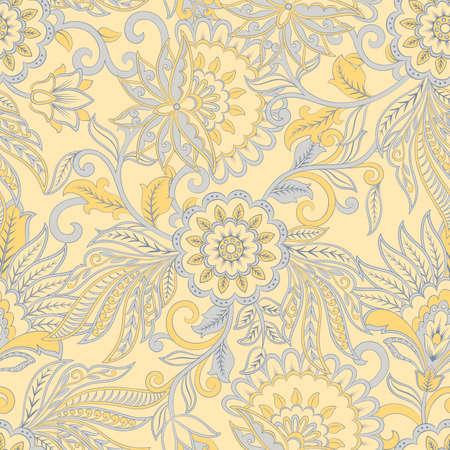 vintage pattern in  batik style. floral vector background Stock Vector - 125792707