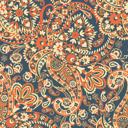 Paisley floral vector illustration in damask style. ethnic background Ilustrace