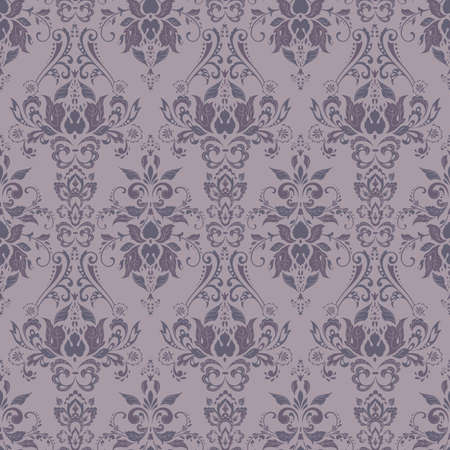 Motif floral baroque de vecteur. ornement floral classique. texture vintage pour papiers peints, textile, tissu Vecteurs