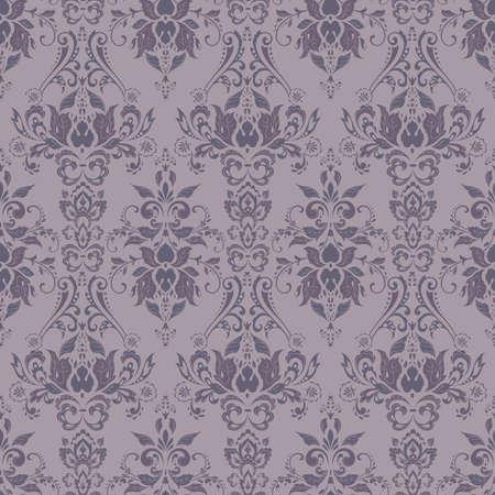 Motivo floreale barocco vettoriale. ornamento floreale classico. trama vintage per sfondi, tessuto, tessuto Vettoriali