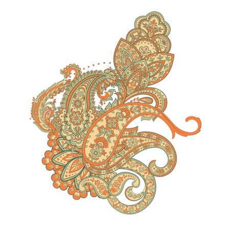Indian, Persian Paisley isolated ornament