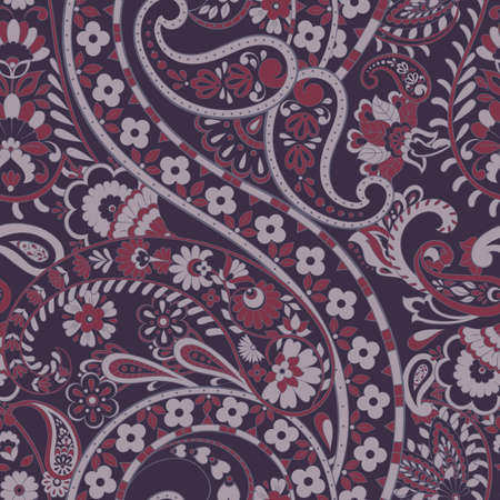 paisley seamless pattern. vector floral background Ilustrace