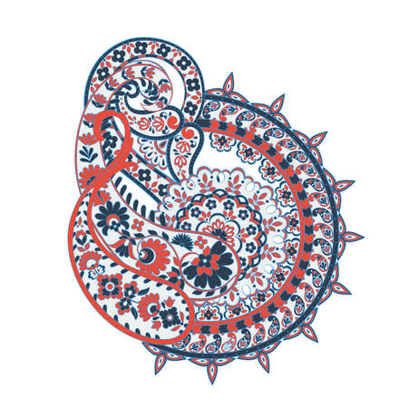 Paisley Damask ornament. Isolated Vector illustration Ilustrace