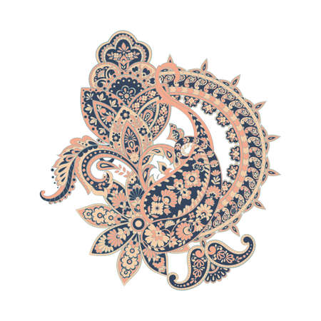 Damask Paisley ornament. Isolated Vector illustration