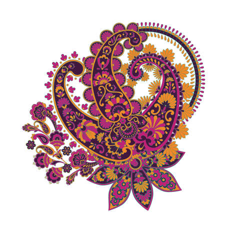 Paisley vector floral illustration