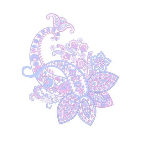 Isolated Paisley pattern in indian style Ilustrace