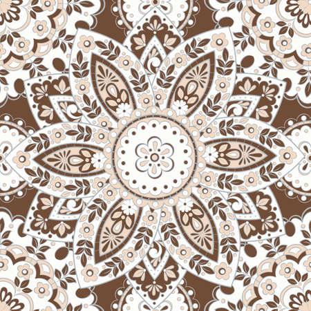 Seamless mandala pattern. Vintage decorative background Ilustrace
