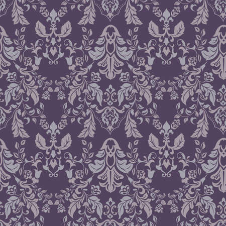 vintage floral seamless pattern. Classic Baroque wallpaper. seamless vector background Ilustrace