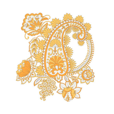 Paisley Floral oriental ethnic Pattern. Vector Arabic Ornament