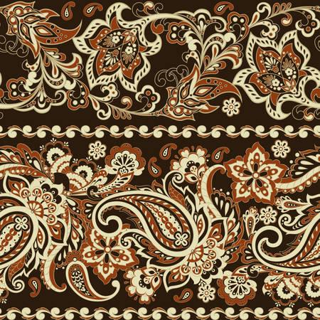 Ornate seamless  damask background. Vector vintage wallpaper