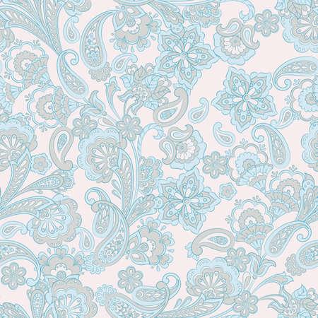 Seamless floral vintage background. Vector pattern for textile design Ilustrace