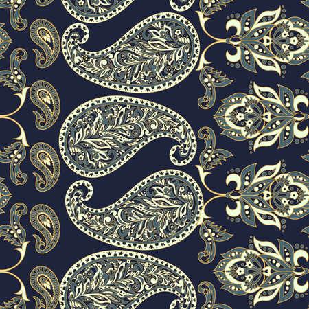 Paisley seamless pattern.