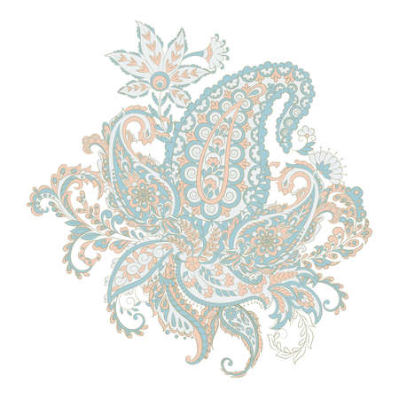 Paisley Damask ornament. Isolated Vector illustration Иллюстрация