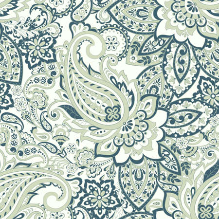 Traditional Persian pickles seamless pattern. Vintage flowers ornament. Ilustrace