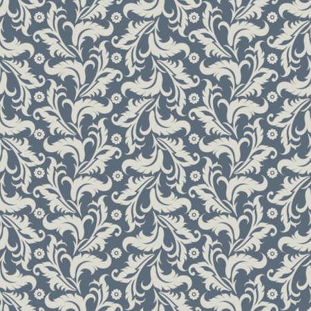 Vintage floral seamless pattern. Vector wallpaper