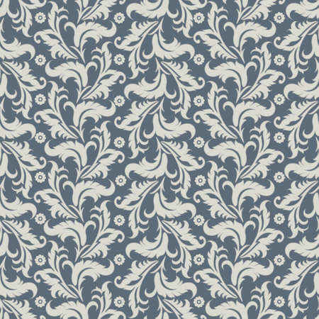 Vintage floral seamless pattern. Vector wallpaper 版權商用圖片 - 134809311