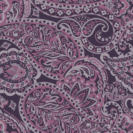 seamless paisley pattern. Colorful vector background