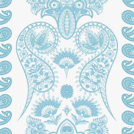 Paisley Floral oriental ethnic Pattern. Seamless Arabic Ornament. Ornamental motifs of the Indian fabric patterns. Standard-Bild - 134809224
