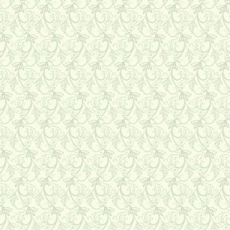 Striped seamless floral background. Vintage Wallpaper vector Illustration